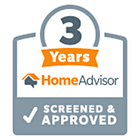 Top Rated for 3 years on HomeAdvisor!