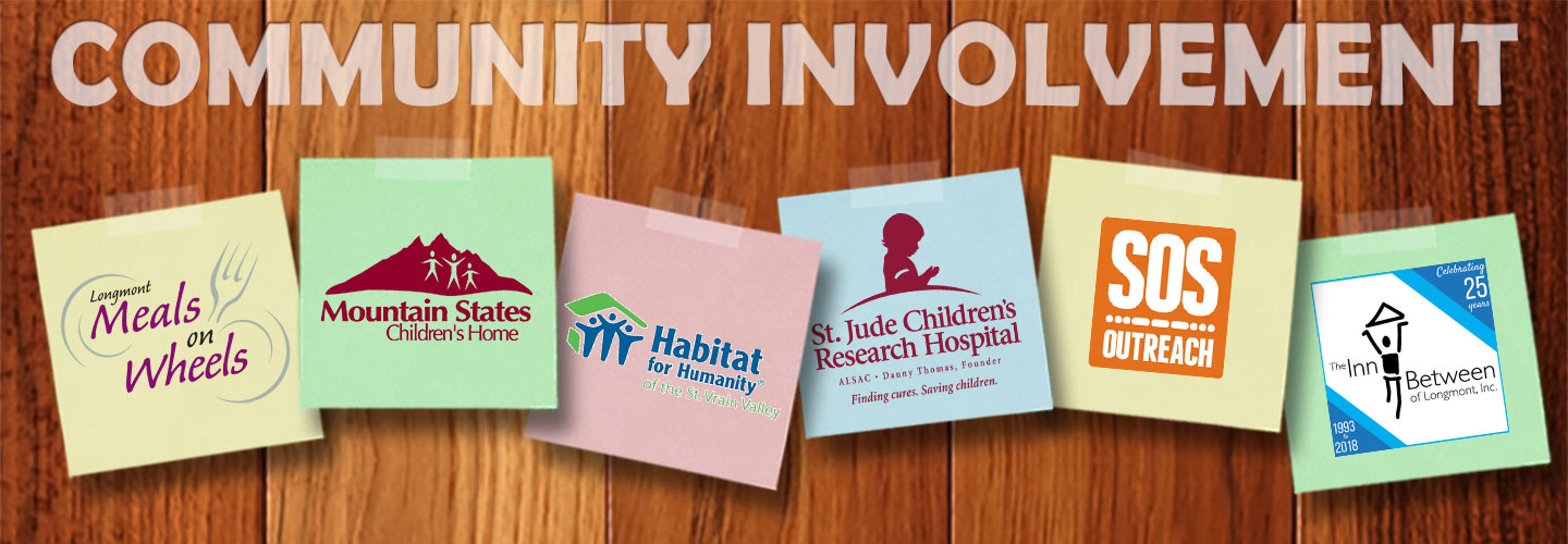 Carpet Masters of Colorado are proud supporters of: Meals on Wheels, Mountain States Children's Home, Habitat for Humanity, St. Jude Children's Research Hospital, SOS Outreach and The Inn Between of Longmont, Inc.