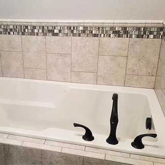 Custom bath projects by Carpet Masters of Longmont, Colorado
