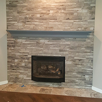 Fireplace projects by Carpet Masters of Longmont, Colorado