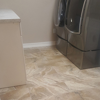 Floor tile projects by Carpet Masters of Longmont, Colorado