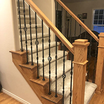 Stair projects by Carpet Masters of Longmont, Colorado