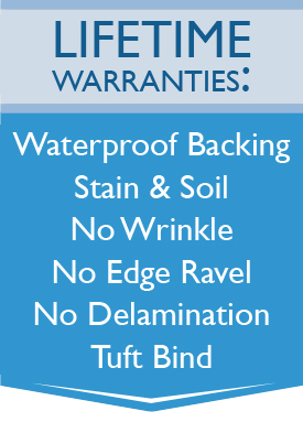 Lifetime Warranties: Waterproof Backing